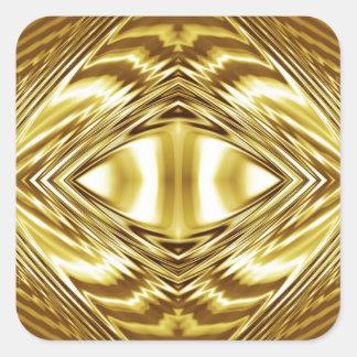 Elegant gold symmetry square sticker