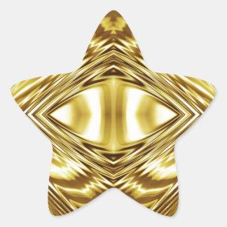 Elegant gold symmetry star sticker