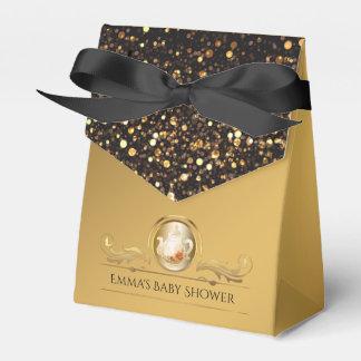 Elegant Gold Tea Party Baby Shower Favour Box