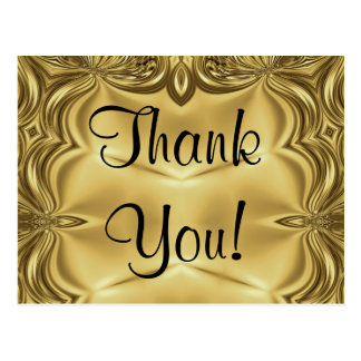 Elegant Gold Thank You Postcards