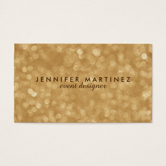 Elegant Gold Tones Glitter & Sparkles Business Card