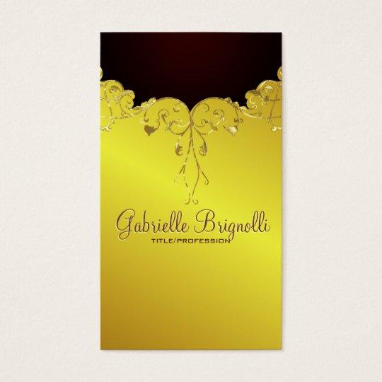 Elegant Gold Tones Vintage Lace Frame Business Card