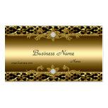 Elegant Gold Trim Black Diamond Jewel Pack Of Standard Business Cards