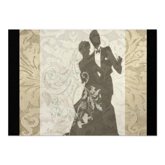 Elegant Gold Vintage Damask wedding Invitation