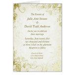 Elegant Gold Vintage Wedding Invitation