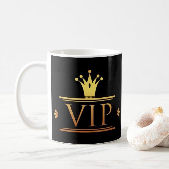 Elegant gold VIP business coffee mug