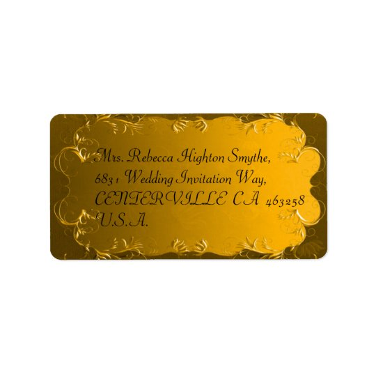 Elegant Gold Wedding Address Labels