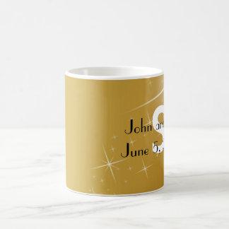 Elegant Gold Wedding & Names Gift Favor Mug