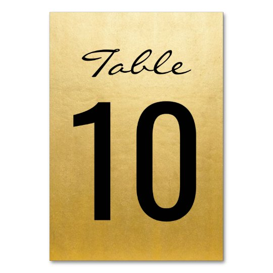 Elegant Gold Wedding Table Numbers Cards Templates