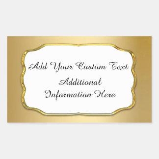 Elegant Gold & White Custom Seals And Stickers