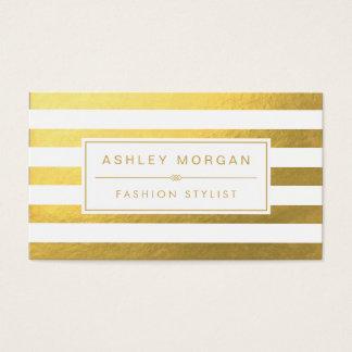 Elegant Gold White Stripes - Chic and Stylish