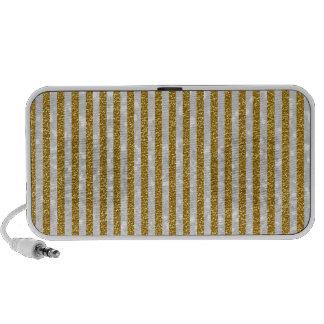 Elegant Gold White Stripes Glitter Photo Print Travelling Speaker