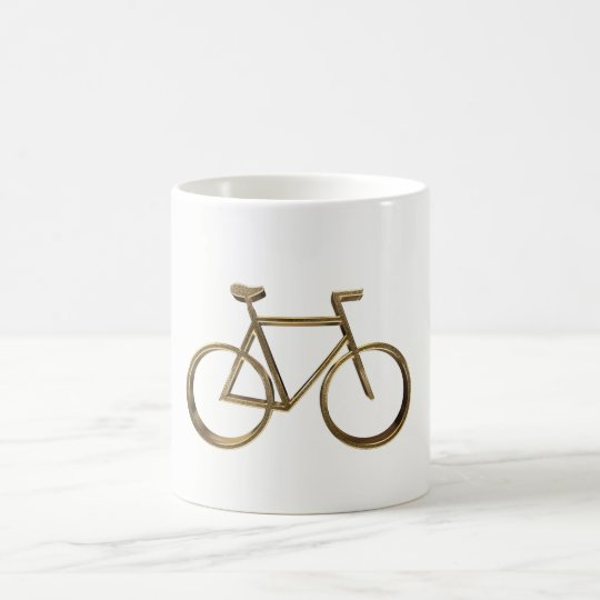 Elegant Golden Bike Bicycle Cycling Cyclist Coffee Mug