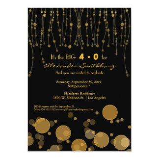 Elegant Golden Chains Birthday Party Invite