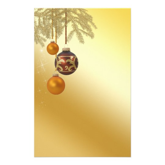 Elegant Golden Christmas - Stationery Letterhead