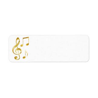 elegant golden clef music