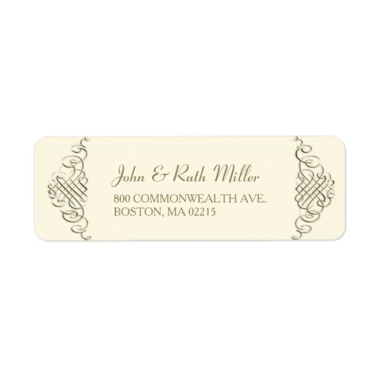 Elegant Golden Frame 1 Return Address Labels