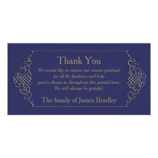 Elegant Golden Frame -2- Sympathy Thank You Photo Greeting Card