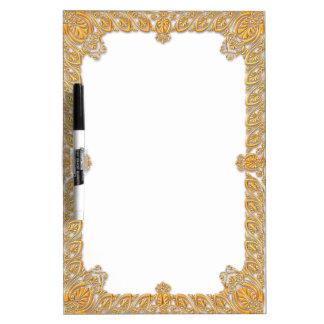 Elegant golden frame dry erase board