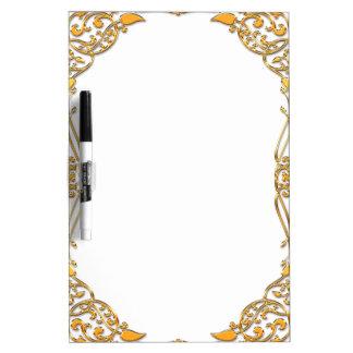 Elegant golden frame Dry-Erase boards
