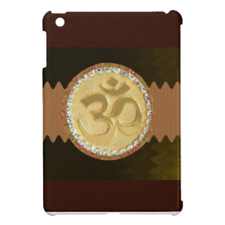 Elegant Golden OM MANTRA Chant Display Holy Symbol Cover For The iPad Mini