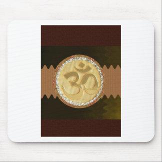 Elegant Golden OM MANTRA Chant Display Holy Symbol Mousepads