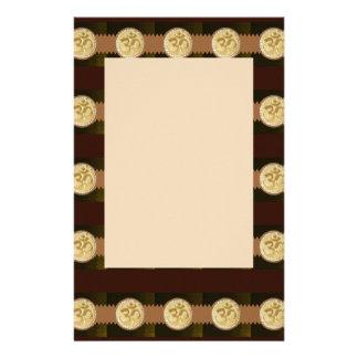 Elegant Golden OM MANTRA Chant Display Holy Symbol Stationery Paper