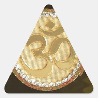 Elegant Golden OM MANTRA Chant Display Holy Symbol Triangle Stickers