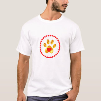 Elegant golden paw T-Shirt