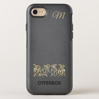 Elegant Golden Sheep Happy New Year 2018 Monogram OtterBox Symmetry iPhone 8/7 Case