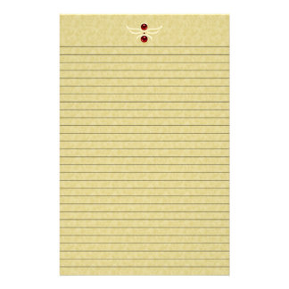 Elegant Golden Stationery with optional lines