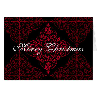 Elegant gothic Christmas ornamental design Card
