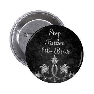 Elegant gothic dark romance wedding Step Father 6 Cm Round Badge