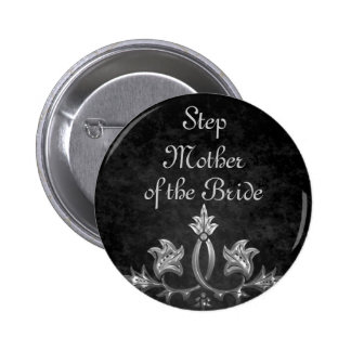Elegant gothic dark romance wedding Step Mother 6 Cm Round Badge