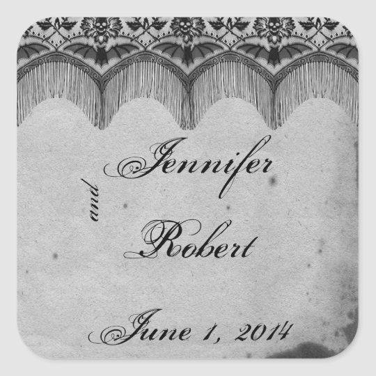 Elegant Gothic Lace Posh Wedding Envelope Seal