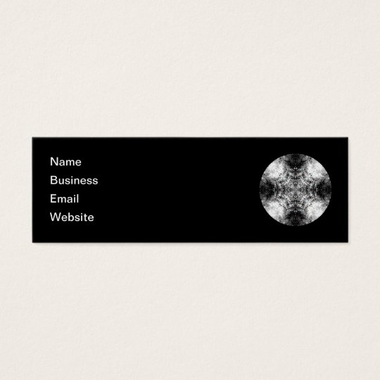 Elegant Gothic Pattern. Black and White. Mini Business Card