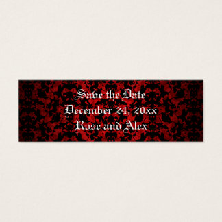 Elegant Gothic save the date mini book markers Mini Business Card