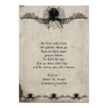 Elegant Gothic Spider Halloween Party Invitation 13 Cm X 18 Cm Invitation Card