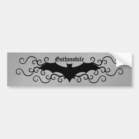 Elegant gothic victorian bat and swirls gothmobile bumper
