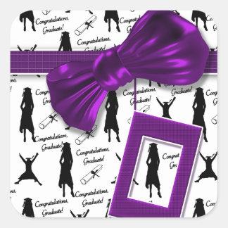 Elegant graduation gifts for women - customizable square sticker