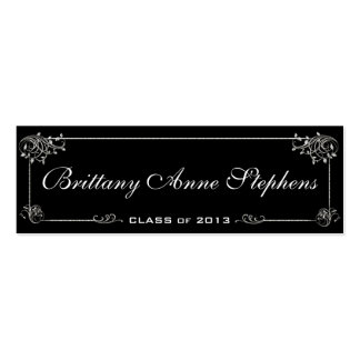 Elegant Graduation Name Card Insert Business Cards