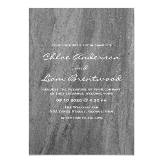 Elegant Granite Wedding Invitation