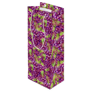 Elegant Grapes Paper Wine Tote Wine Gift Bag