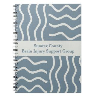 Elegant Gray Brain Injury Support Group Notebooks