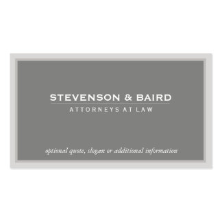 Elegant Gray Professional Consultant Classic Double-Sided Standard Business Cards (Pack Of 100)