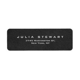 Elegant Gray Professional Modern Personal Return Address Label