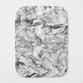Elegant gray white modern marble texture patterns burp cloth