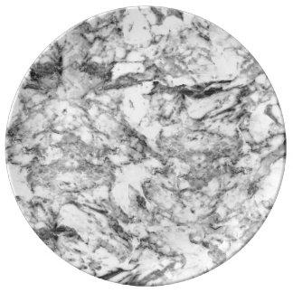 Elegant gray white modern marble texture patterns plate