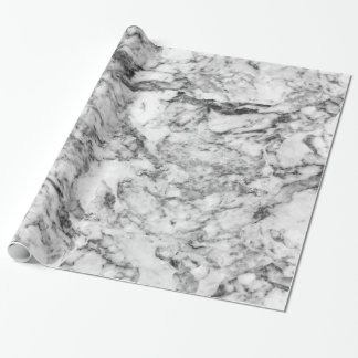 Elegant gray white modern marble texture patterns wrapping paper