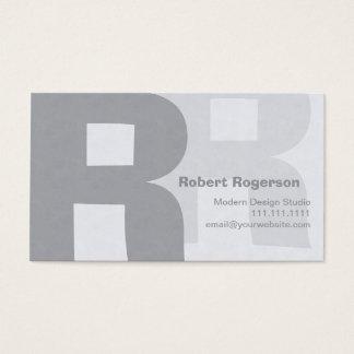 Elegant Grays Retro Big Double Letter R